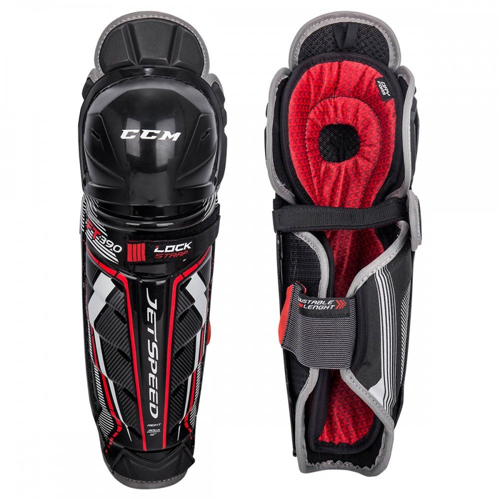 CCM Jetspeed FT390 Senior Hockey Shin Guards
