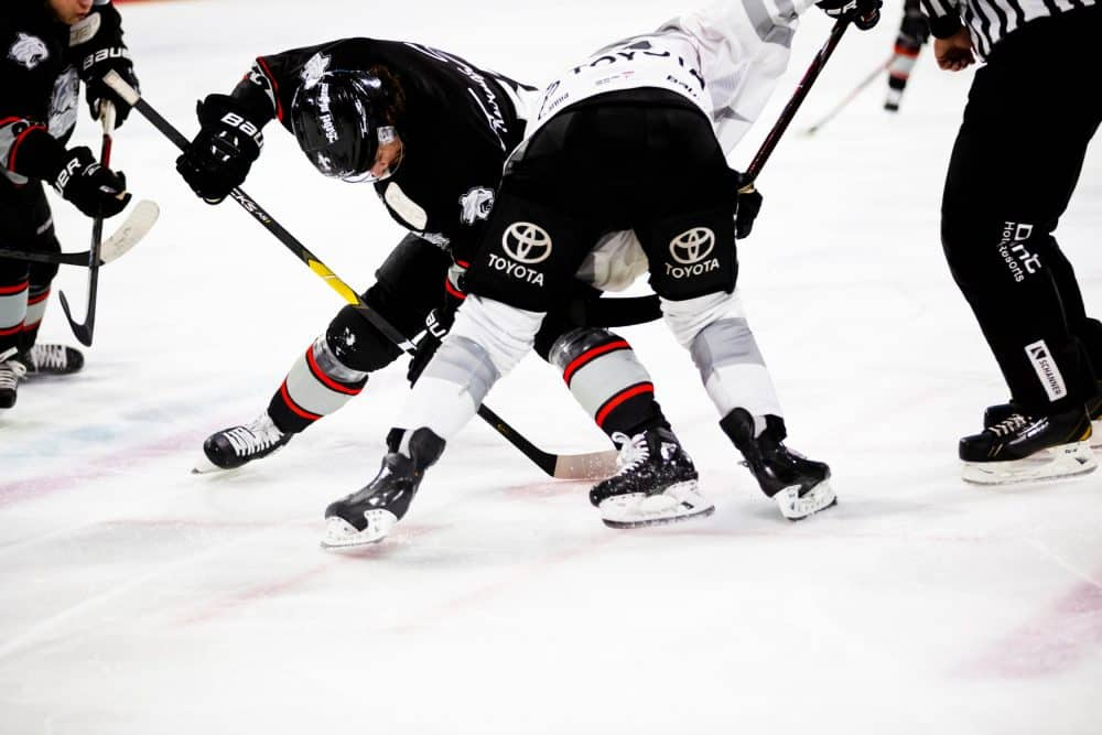 defensive hockey stick battle