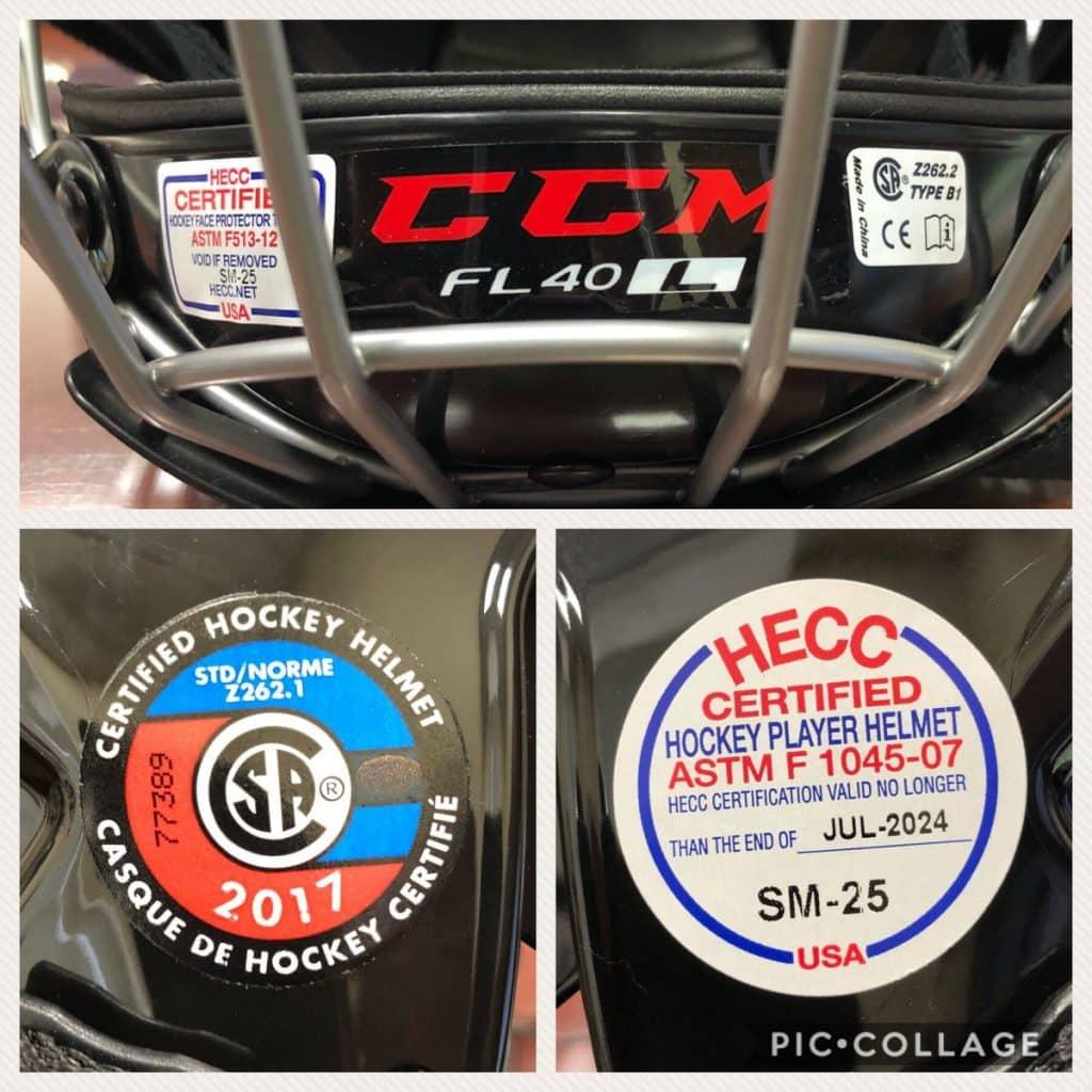 helmet certificates